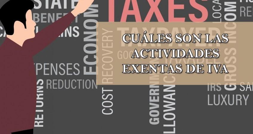 cuáles son las actividades exentas de IVA
